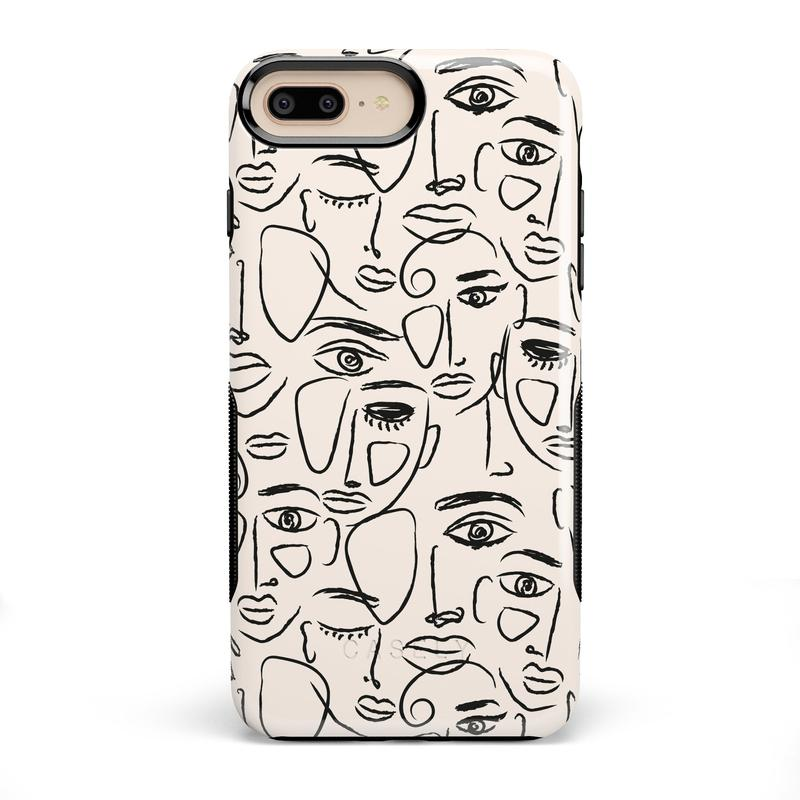 We're All Human | Minimal Face Art Case iPhone Case get.casely Bold iPhone 8 Plus