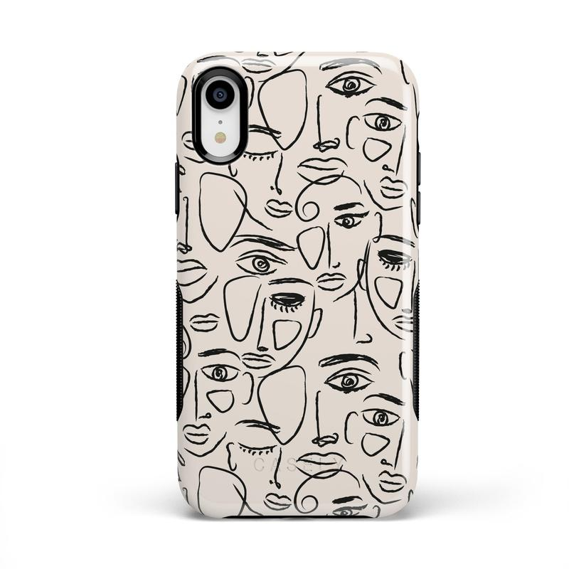 We're All Human | Minimal Face Art Case iPhone Case get.casely Bold iPhone XR