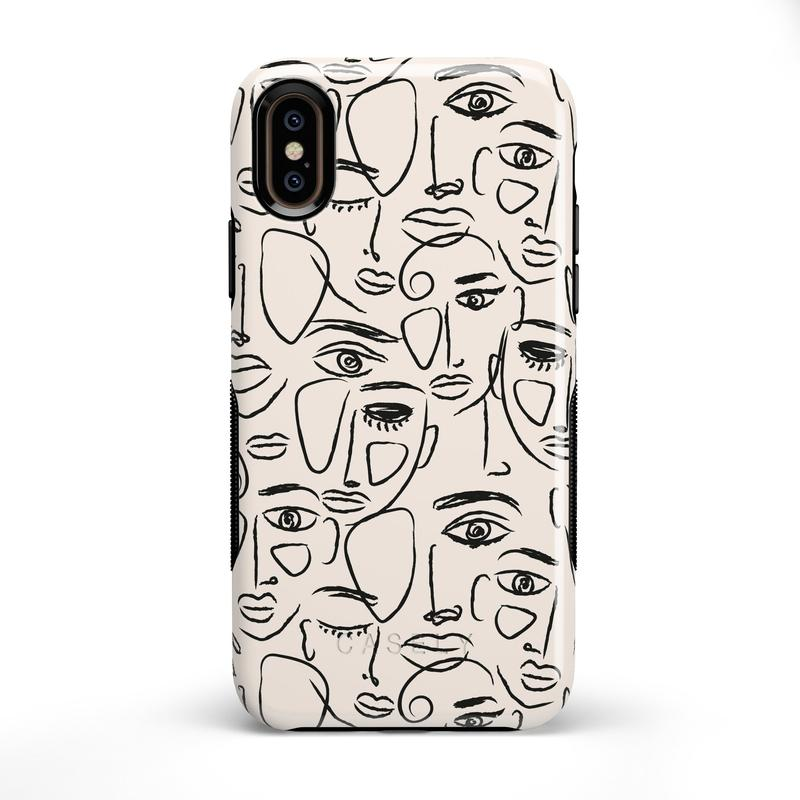 We're All Human | Minimal Face Art Case iPhone Case get.casely Bold iPhone XS Max