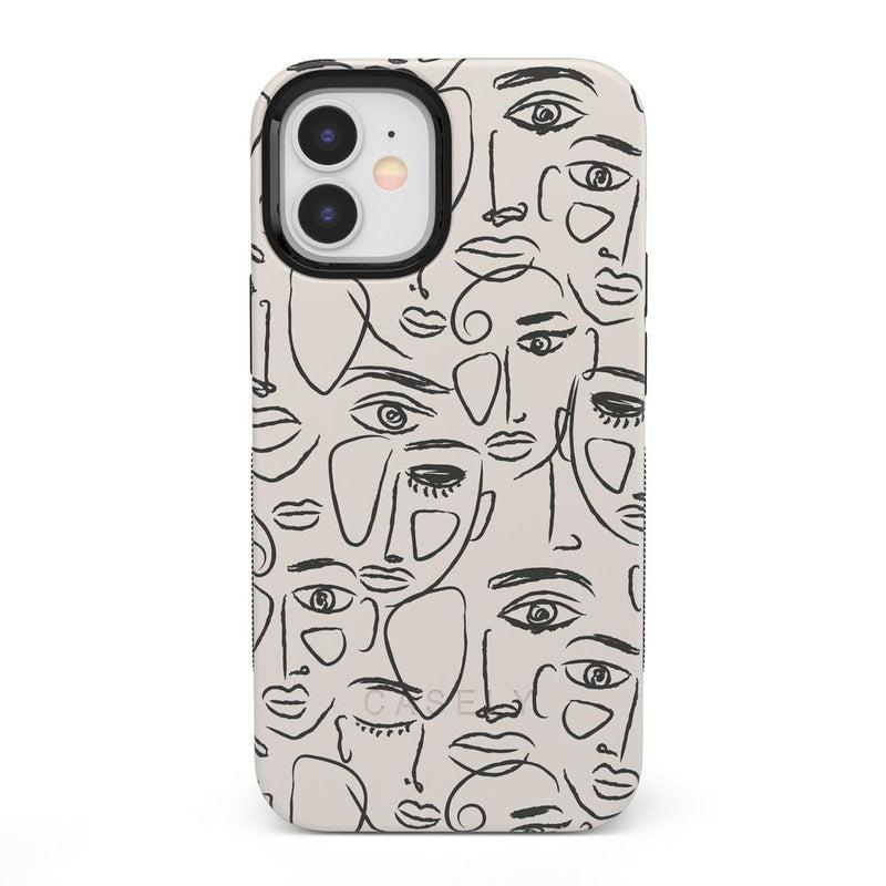 We're All Human | Minimal Face Art Case iPhone Case get.casely Bold + MagSafe® iPhone 12