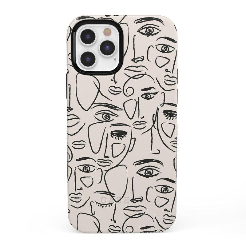 We're All Human | Minimal Face Art Case iPhone Case get.casely Bold + MagSafe® iPhone 12 Pro Max
