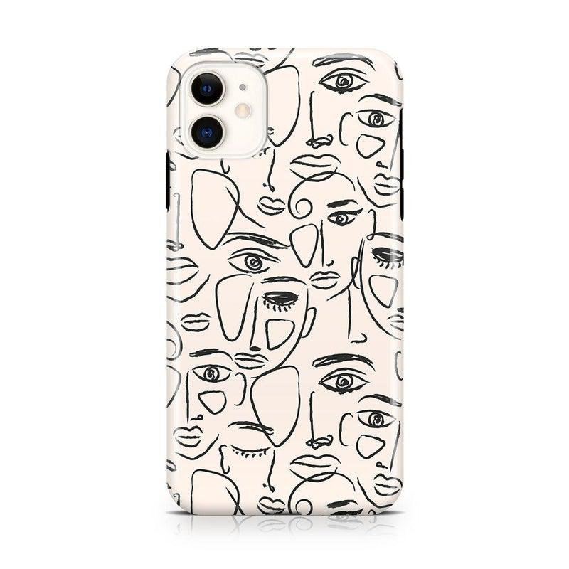 We're All Human | Minimal Face Art Case iPhone Case get.casely Classic iPhone 11