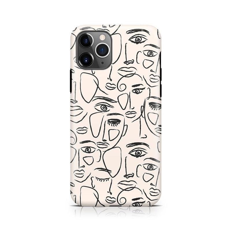 We're All Human | Minimal Face Art Case iPhone Case get.casely Classic iPhone 11 Pro Max