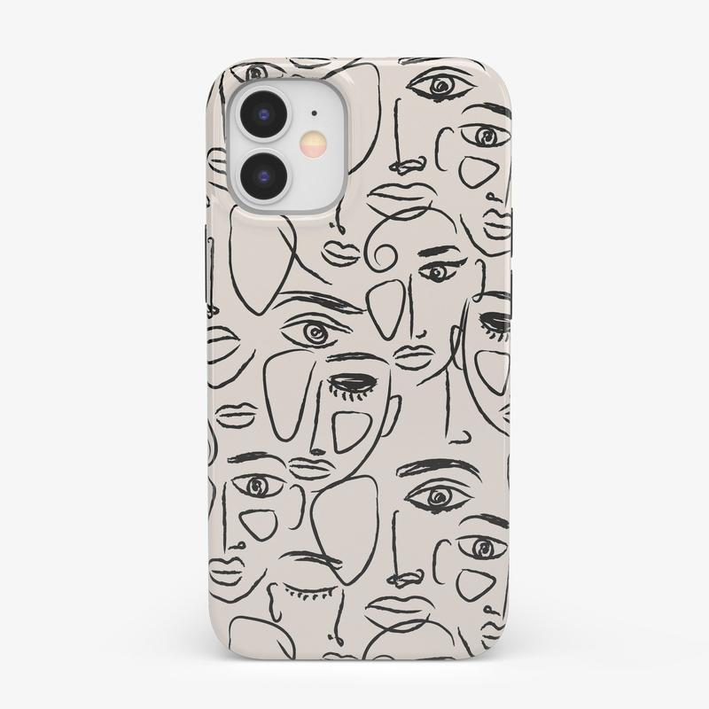 We're All Human | Minimal Face Art Case iPhone Case get.casely Classic iPhone 12