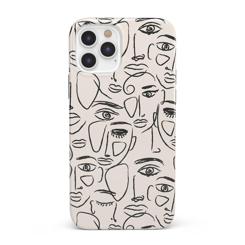 We're All Human | Minimal Face Art Case iPhone Case get.casely Classic iPhone 12 Pro Max