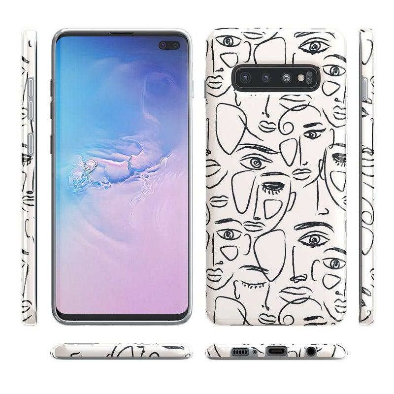 We're All Human | Minimal Face Art Samsung Case Samsung Case get.casely