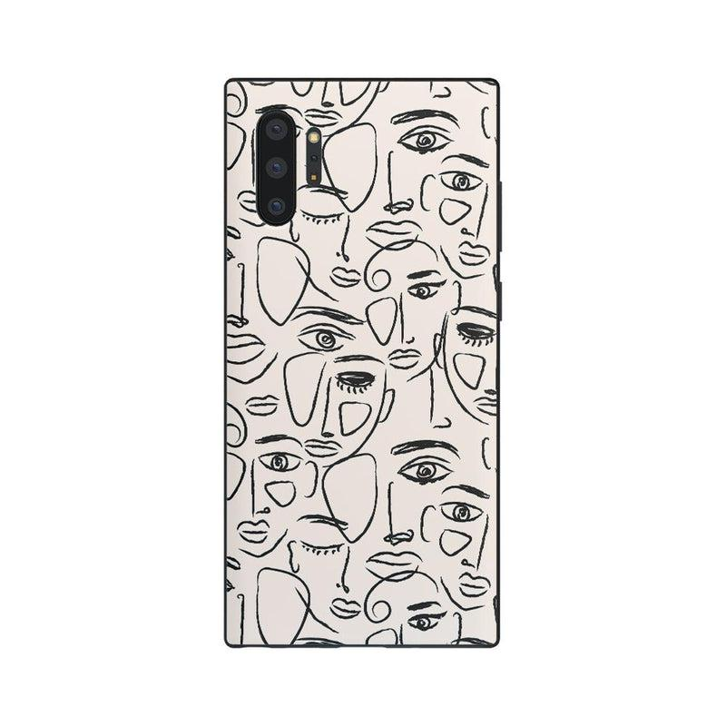We're All Human | Minimal Face Art Samsung Case Samsung Case get.casely Classic Galaxy Note 10 Plus