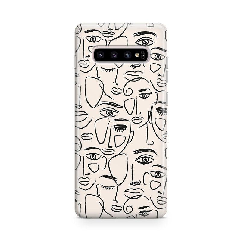 We're All Human | Minimal Face Art Samsung Case Samsung Case get.casely Classic Galaxy S10
