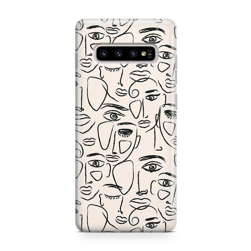 We're All Human | Minimal Face Art Samsung Case Samsung Case get.casely Classic Galaxy S10 Plus