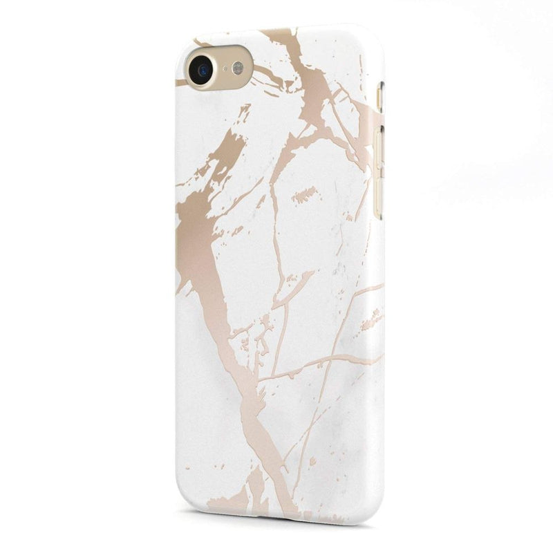 official photos 83823 95c36 White Rose Gold Marble Case