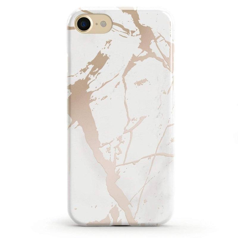 White Rose Gold Marble Case iPhone Case Get.Casely