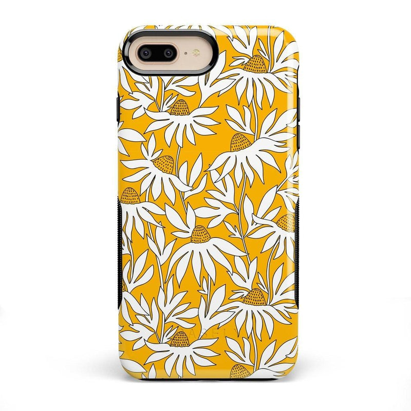 Wild About You | Yellow Floral Case iPhone Case get.casely Bold iPhone 8 Plus