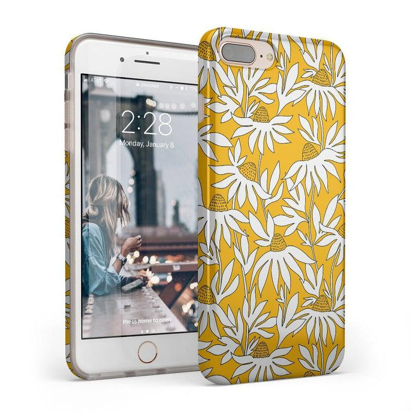 Wild About You | Yellow Floral Case iPhone Case get.casely Classic iPhone 8 Plus
