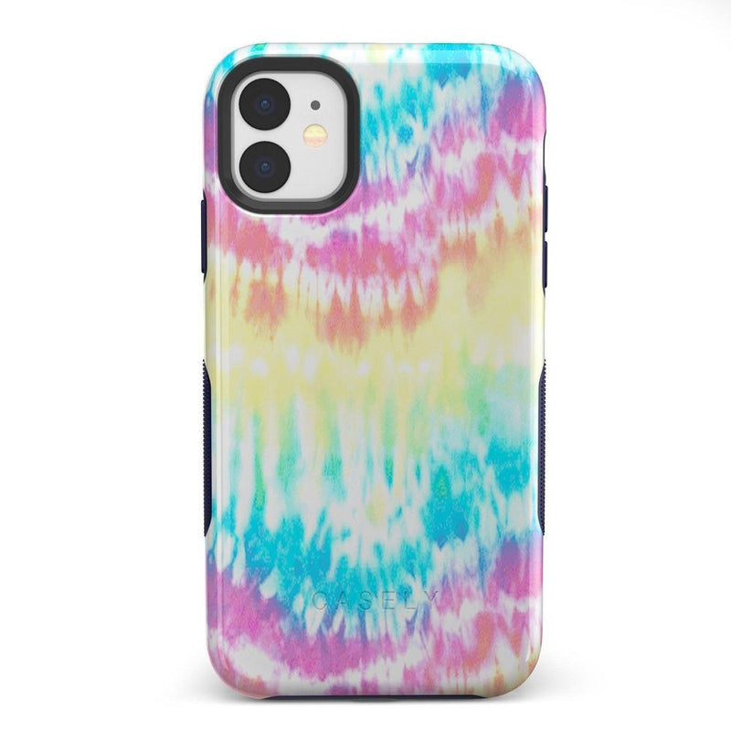 Wild & Free Classic Rainbow Tie Dye iPhone Case iPhone Case Get.Casely Bold iPhone 11