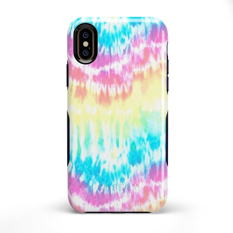Wild & Free Classic Rainbow Tie Dye iPhone Case iPhone Case Get.Casely Bold iPhone X / XS