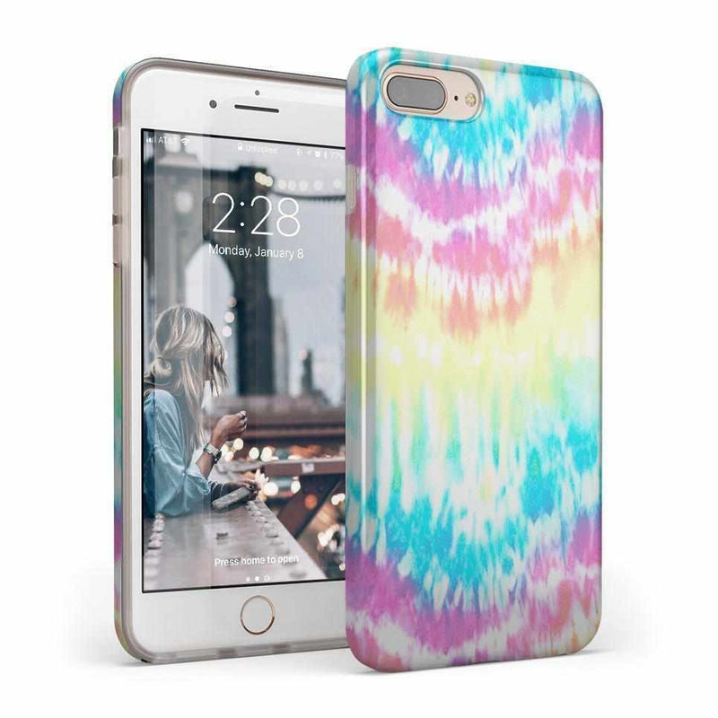 Wild & Free Classic Rainbow Tie Dye iPhone Case iPhone Case Get.Casely Classic iPhone 8 Plus