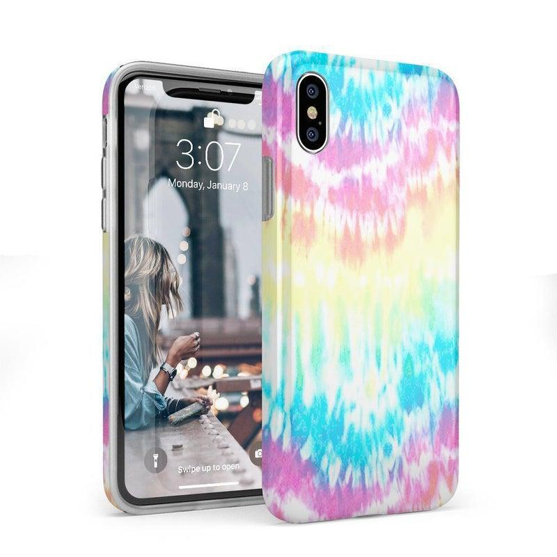 Wild & Free Classic Rainbow Tie Dye iPhone Case iPhone Case Get.Casely Classic iPhone X / XS