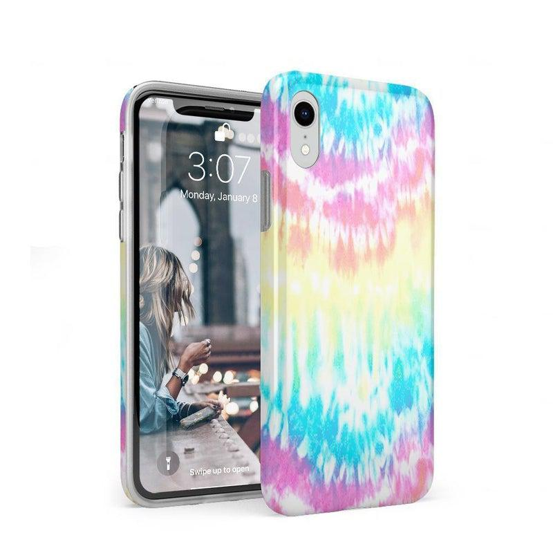 Wild & Free Classic Rainbow Tie Dye iPhone Case iPhone Case Get.Casely Classic iPhone XR