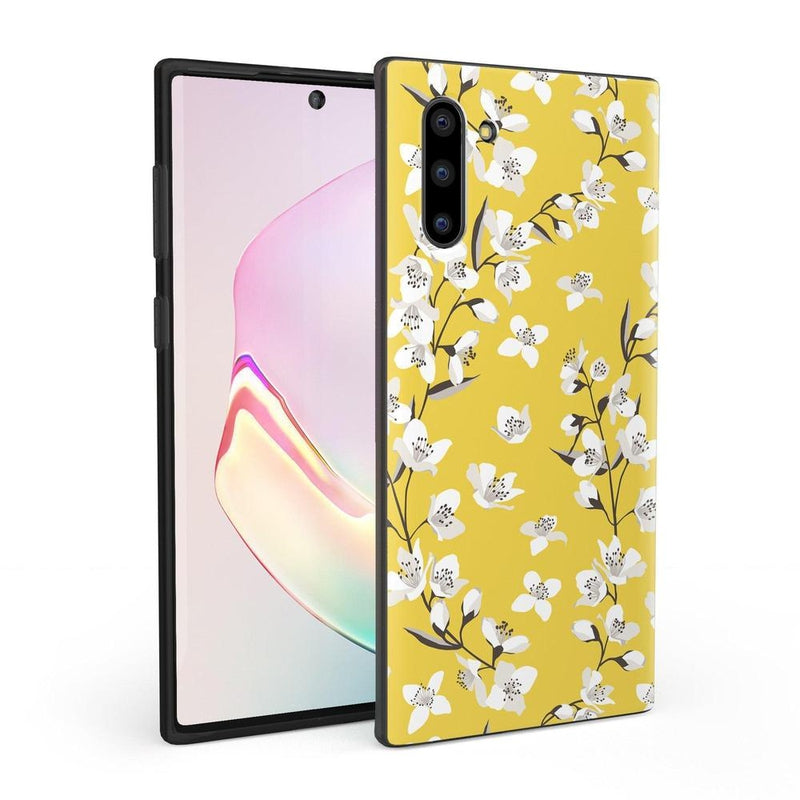 Yellow Cherry Blossom Floral Case iPhone Case Get.Casely