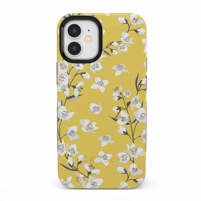 Yellow Cherry Blossom Floral Case iPhone Case get.casely Bold iPhone 12 Mini