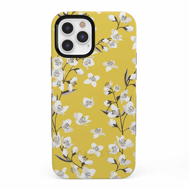 Yellow Cherry Blossom Floral Case iPhone Case get.casely Bold iPhone 12 Pro