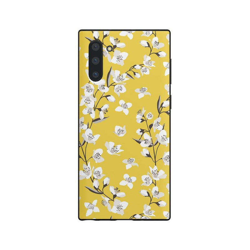 Yellow Cherry Blossom Floral Case iPhone Case Get.Casely Classic Galaxy Note 10