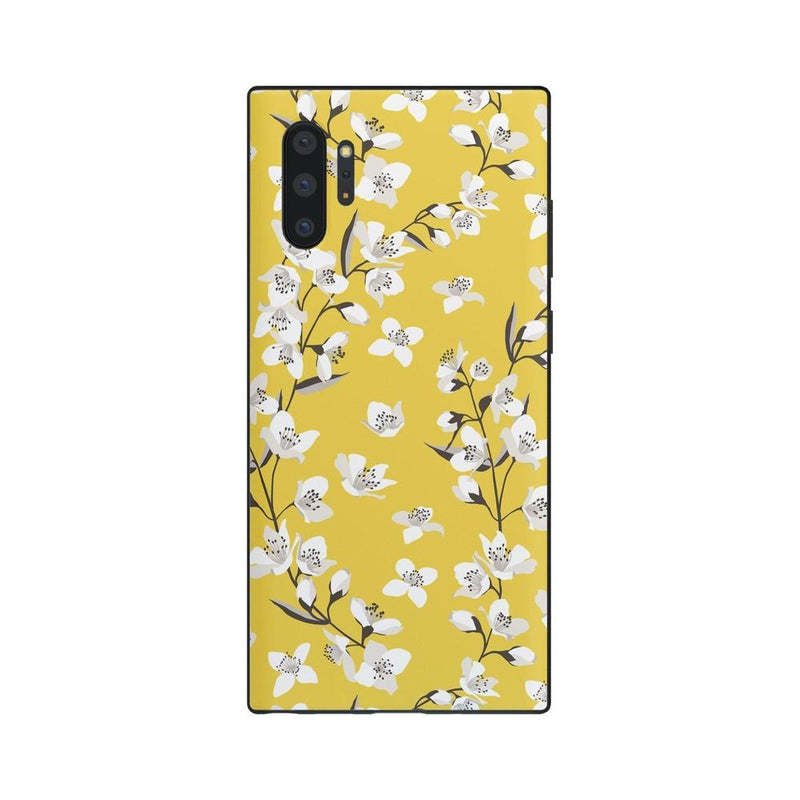 Yellow Cherry Blossom Floral Case iPhone Case Get.Casely Classic Galaxy Note 10 Plus