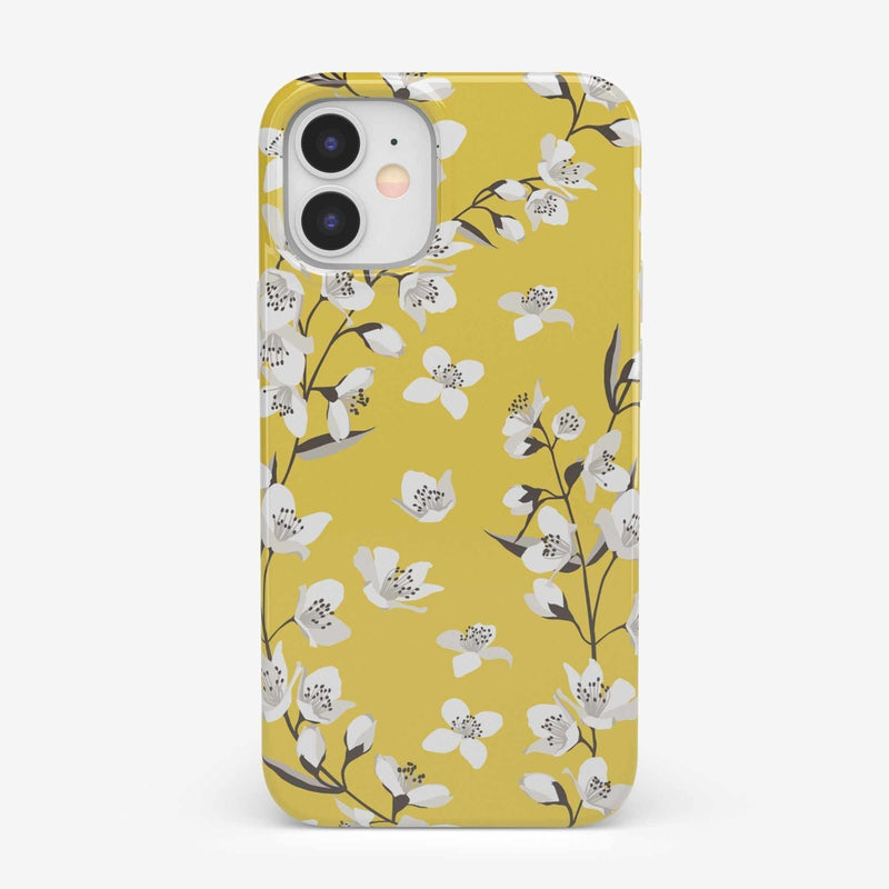 Yellow Cherry Blossom Floral Case iPhone Case get.casely Classic iPhone 12 Mini