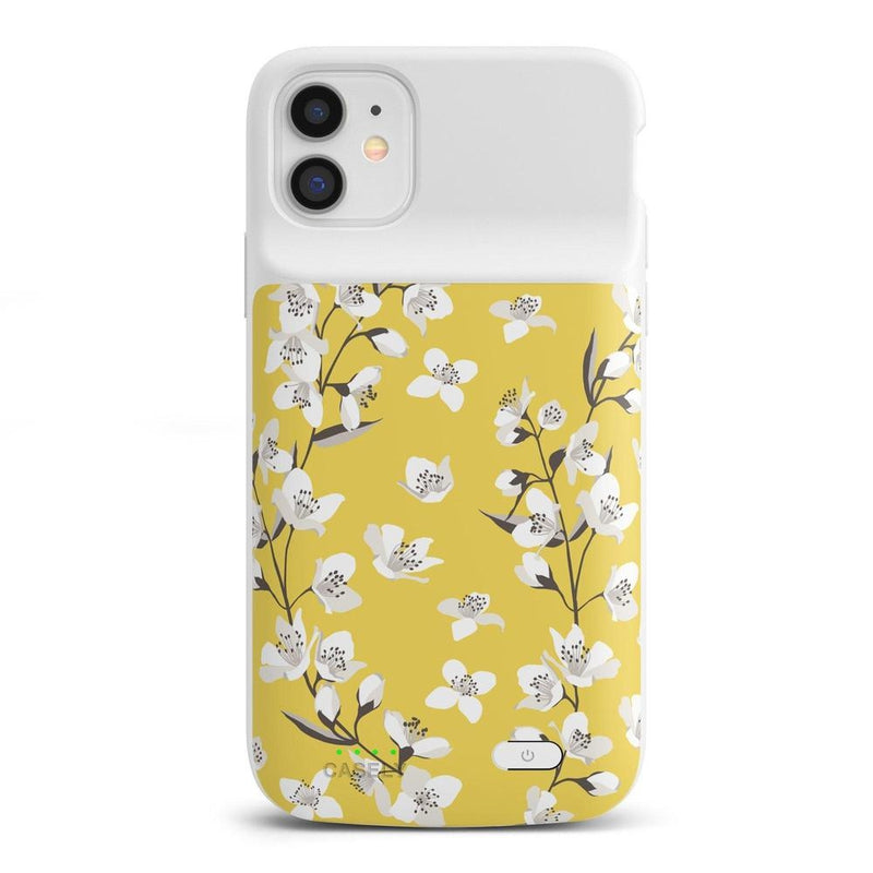 Yellow Cherry Blossom Floral Case iPhone Case get.casely Power 2.0 iPhone 11