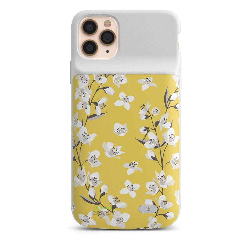 Yellow Cherry Blossom Floral Case iPhone Case get.casely Power 2.0 iPhone 11 Pro Max