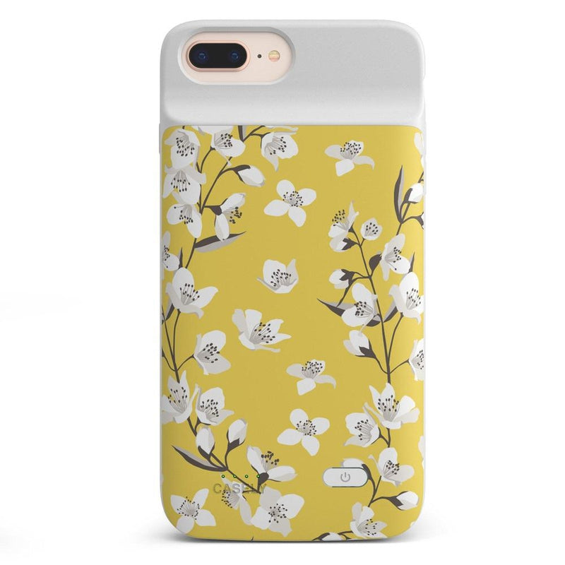 Yellow Cherry Blossom Floral Case iPhone Case get.casely Power 2.0 iPhone 8 Plus