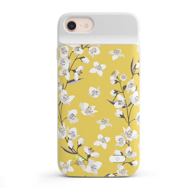 Yellow Cherry Blossom Floral Case iPhone Case get.casely Power 2.0 iPhone SE (2020)