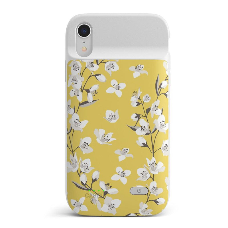 Yellow Cherry Blossom Floral Case iPhone Case get.casely Power 2.0 iPhone XR