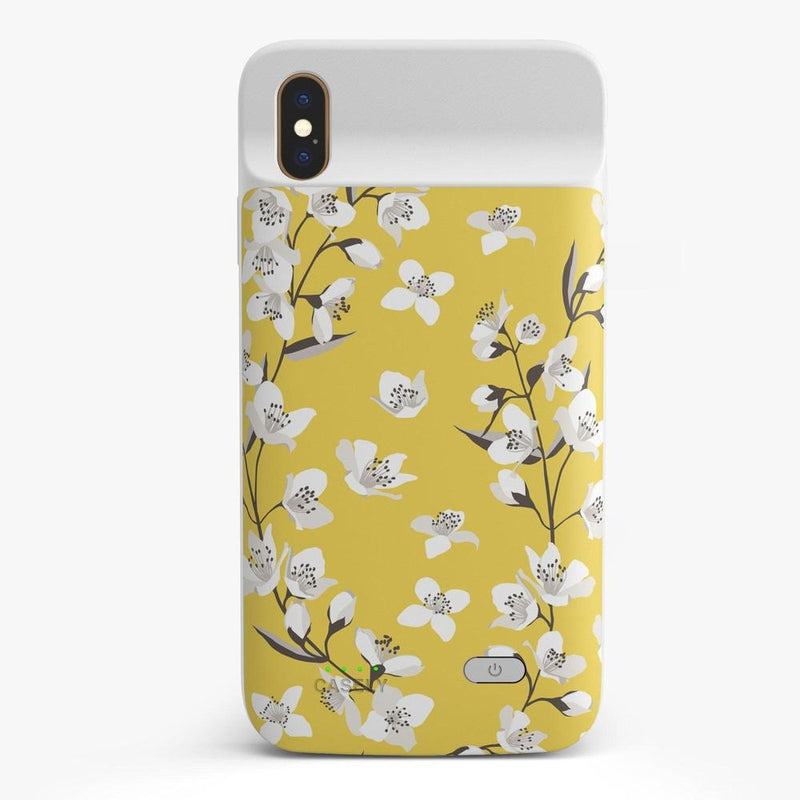 Yellow Cherry Blossom Floral Case iPhone Case get.casely Power 2.0 iPhone XS Max