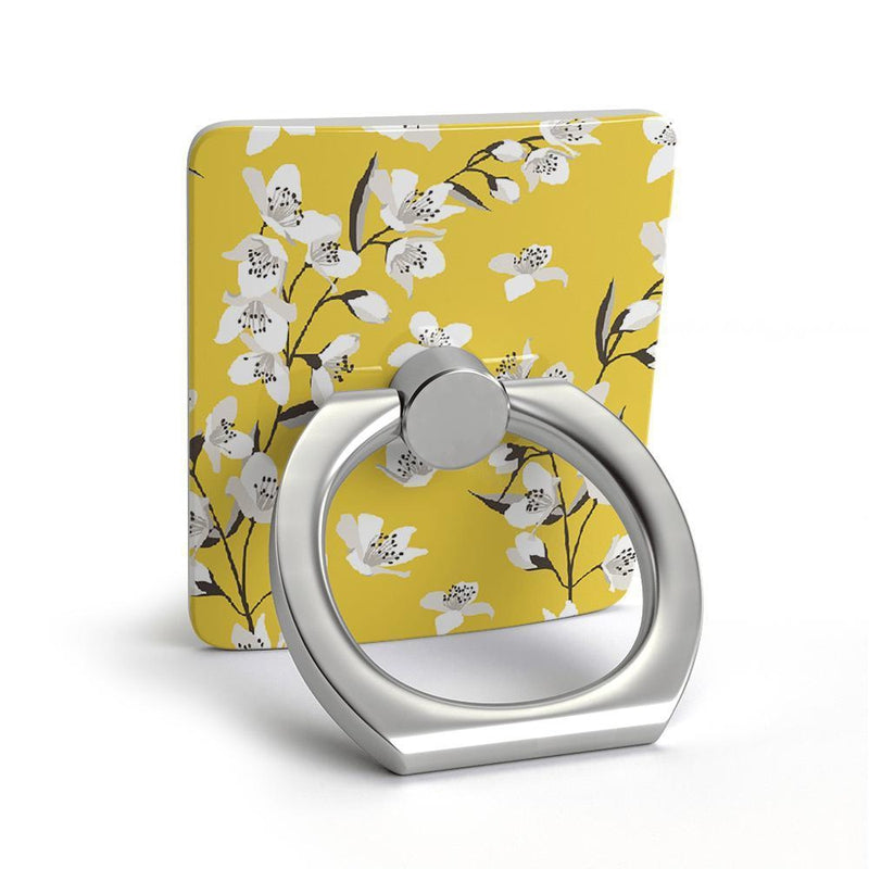 Yellow Cherry Blossom Floral Phone Ring Phone Ring get.casely