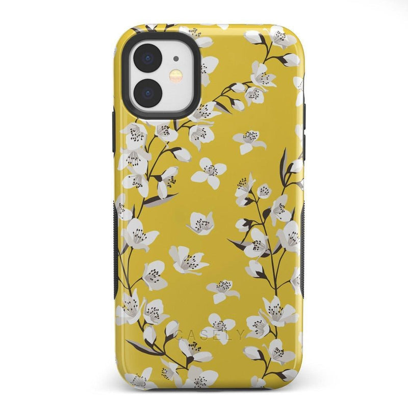 Yellow Flower Power Floral Case iPhone Case Get.Casely Bold iPhone 11