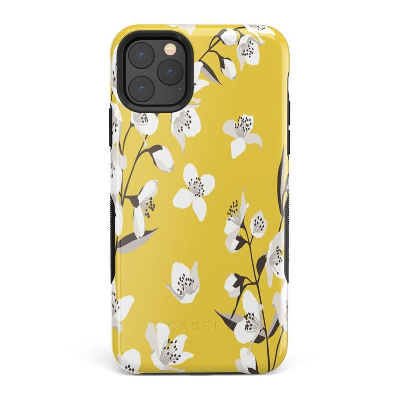 Yellow Flower Power Floral Case iPhone Case Get.Casely Bold iPhone 11 Pro