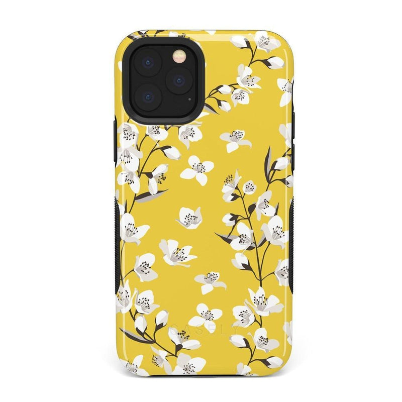 Yellow Flower Power Floral Case iPhone Case Get.Casely Bold iPhone 11 Pro Max