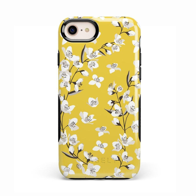 Yellow Flower Power Floral Case iPhone Case Get.Casely Bold iPhone 8