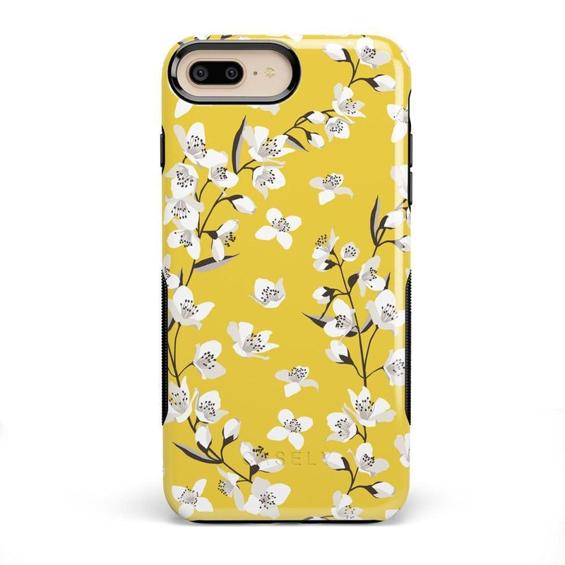 Yellow Flower Power Floral Case iPhone Case Get.Casely Bold iPhone 8 Plus
