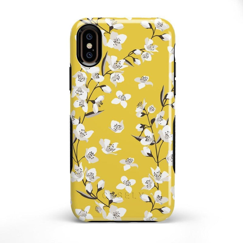 Yellow Flower Power Floral Case iPhone Case Get.Casely Bold iPhone X / XS