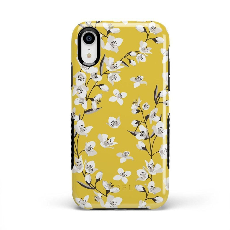 Yellow Flower Power Floral Case iPhone Case Get.Casely Bold iPhone XR