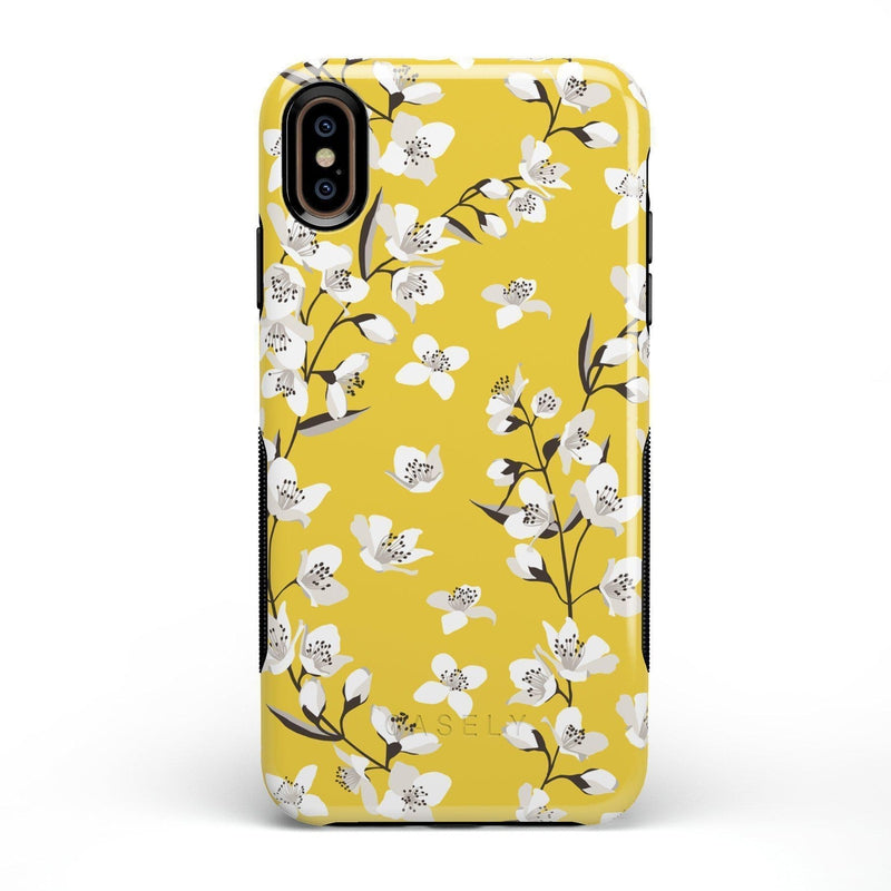 Yellow Flower Power Floral Case iPhone Case Get.Casely Bold iPhone XS Max