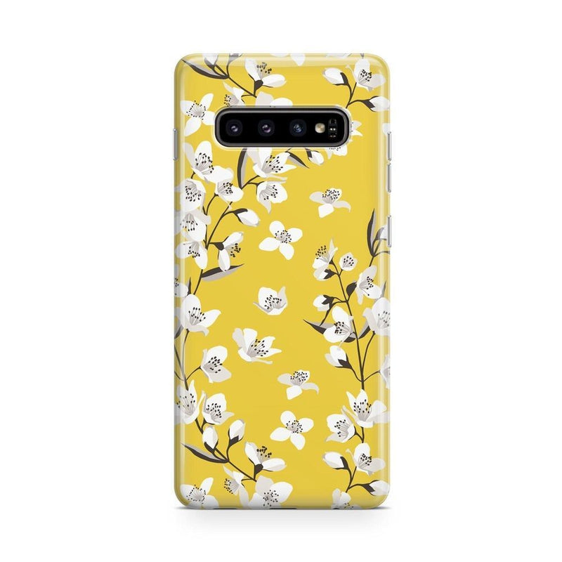 Yellow Flower Power Floral Case iPhone Case Get.Casely Classic Galaxy S10