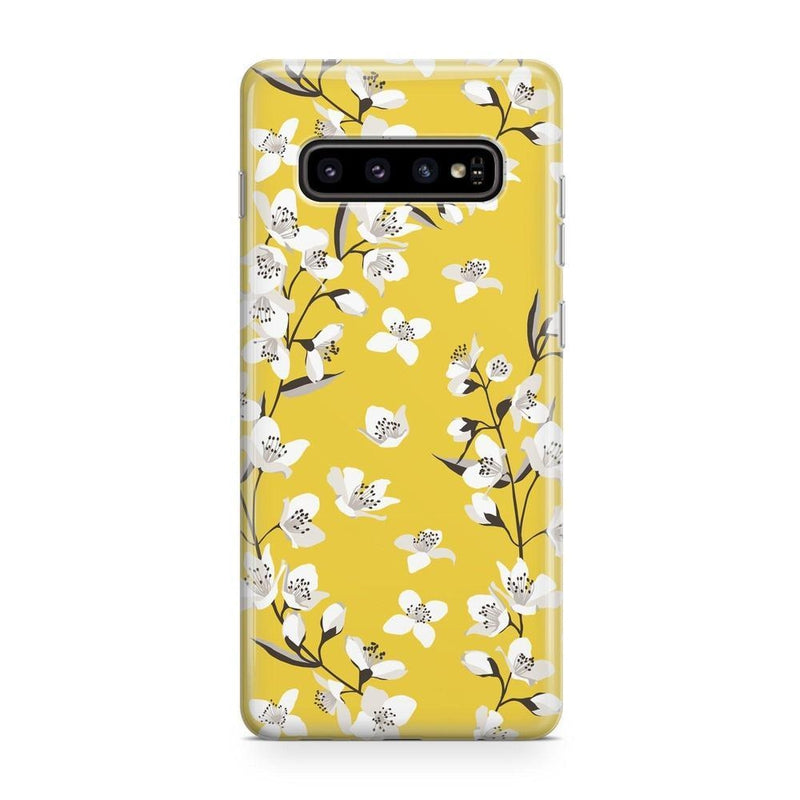 Yellow Flower Power Floral Case iPhone Case Get.Casely Classic Galaxy S10 Plus