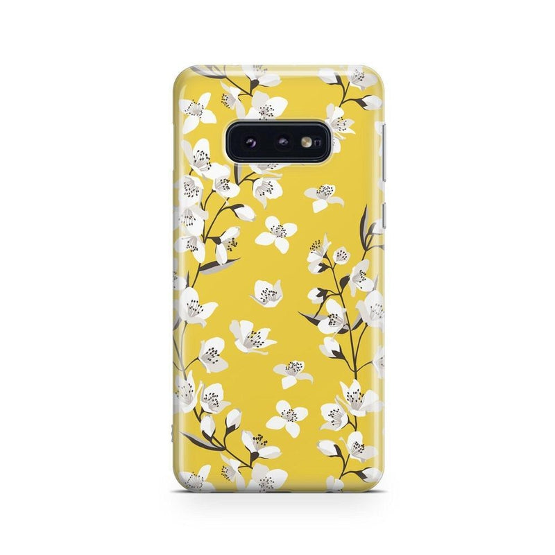 Yellow Flower Power Floral Case iPhone Case Get.Casely Classic Galaxy S10E