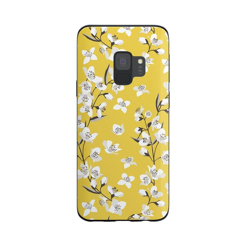 Yellow Flower Power Floral Case iPhone Case Get.Casely Classic Galaxy S9