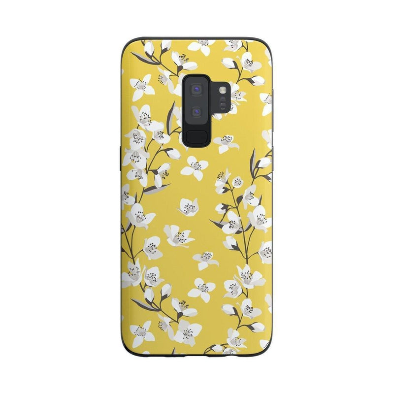 Yellow Flower Power Floral Case iPhone Case Get.Casely Classic Galaxy S9 Plus