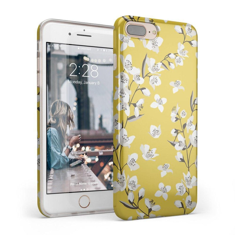 Yellow Flower Power Floral Case iPhone Case Get.Casely Classic iPhone 6/6s Plus