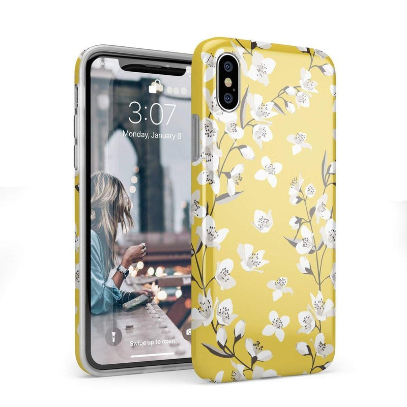 Yellow Flower Power Floral Case iPhone Case Get.Casely Classic iPhone X / XS